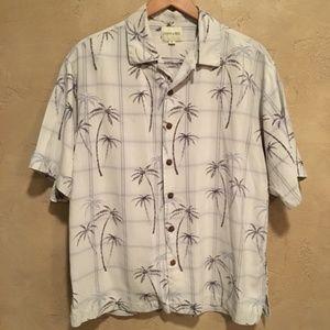 Joseph & Feiss White Floral Hawaiian Shirt